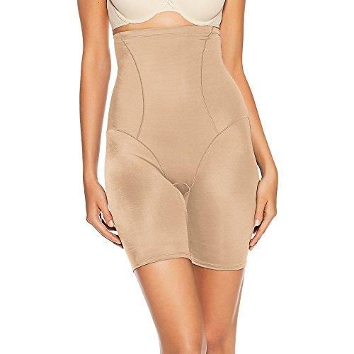 Bali Women's Shapewear Cool Comfort Hi-Waist Thigh Slimmer, Nude, XX-Large
