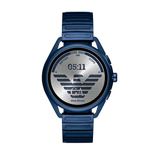Emporio Armani Touchscreen Smartwatch 3 - Matte Blue Stainless Steel