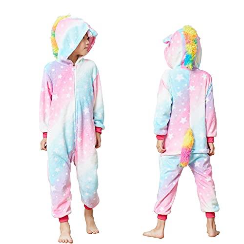 Kids Unisex Unicorn Costume Animal Onesie Pajamas Halloween Christmas Gifts 6t