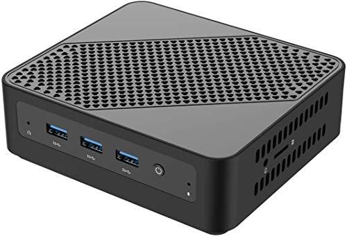 U700 Mini PC Intel Core i5-5257U Windows 10 Pro Mini Computer, Upgradeable 8GB RAM+128GB SSD, HDMI/Mini DP/USB-C Triple Outputs, 2X Ethernet Port, Support Chromium & Linux OS, PXE Boot and WOL