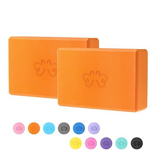 Yoga Block, High Density EVA Foam Yoga Brick for Home or Gym - 2PC (Qrange)