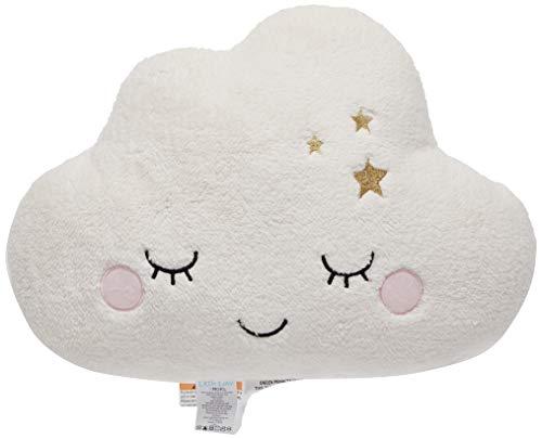Little Love by NoJo - Plush Cloud Shaped Decorative Pillow, Decorative Nursery Pillow, Playroom Décor, Cute Throw Pillows, White
