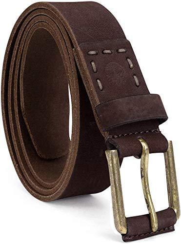 Timberland Men's Casual Leather Belt, dark brown, 34