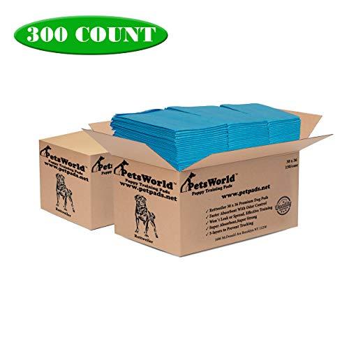 PETSWORLD XXL Dog Training Pads Maximum Absorbent 30 x 36, 300 Ct