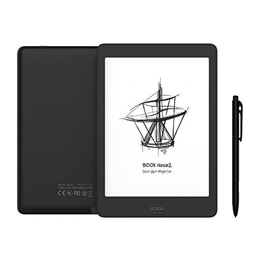 BOOX Nova2 7.8 ePaper Eink Tablet, 300 DPI Android 9.0 Front Light Dual Touch USB OTG E-Reader