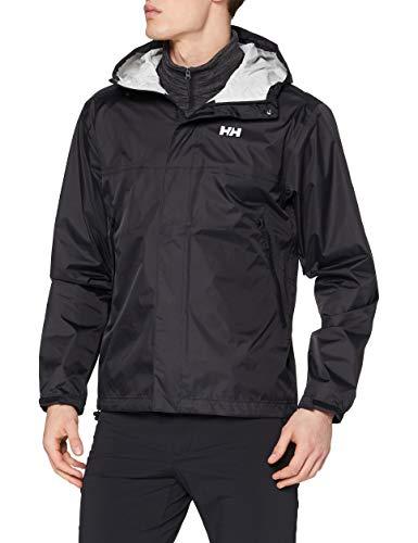 Helly Hansen Men's Loke Waterproof Windproof Breathable Rain Jacket, 990 Black, X-Large