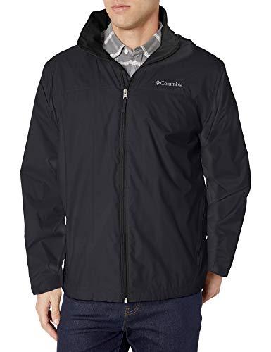 Columbia Men's Glennaker Lake Lined Rain Jacket, Waterproof & Breathable, black, XL