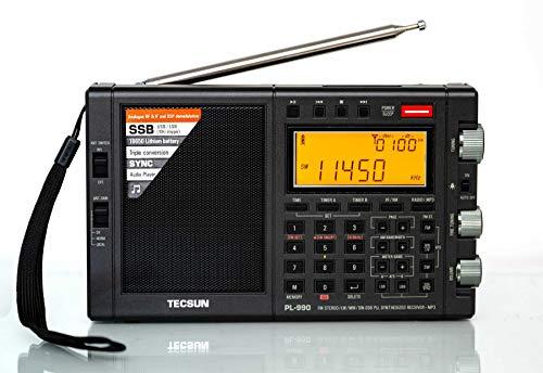Tecsun PL990 Digital Worldband AM/FM Shortwave Longwave Radio with Single Side Band Reception & MP3 Player, Matte Black