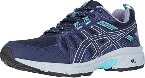 ASICS Women's Gel-Venture 7 Running Shoes, 7.5, Black/Silver