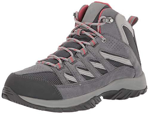 Columbia Women's Crestwood Mid Waterproof Hiking Boot Shoe, Graphite, Daredevil, 7 Regular US