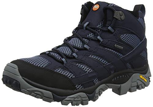 Merrell Men's High Rise Hiking Boots, Blue Navy, 46.5