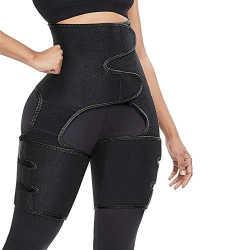 High Waist Trimmer for Women,Butt Lifter Thigh Trimmer,Thigh Trainer,3 in 1 Weight Loss Butt Lifter Waist Trainer Shaping Slimming Support,Hips Belt Trimmer Body Shaper (Black, S/M)