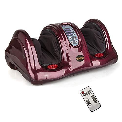 H&B Luxuries Shiatsu Kneading Rolling Foot Massager Personal Health Studio ZH-9902-red