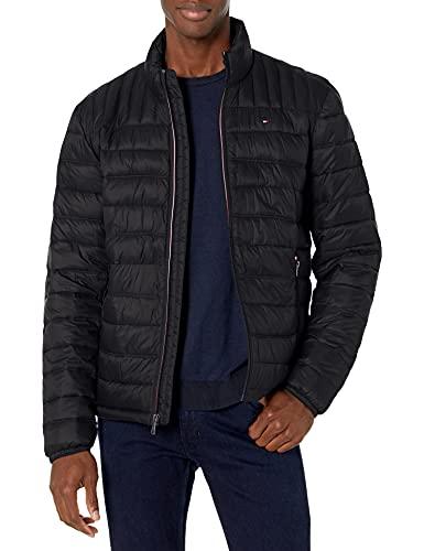 Tommy Hilfiger Men's Ultra Loft Lightweight Packable Puffer Jacket (Standard and Big & Tall), Black, Medium