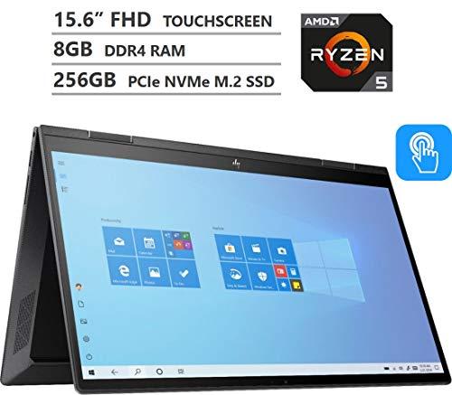 2020 Newest HP ENVY x360 2-in-1 Laptop, 15.6' Full HD Touchscreen, AMD Ryzen 5 4500U Processor up to 4.0GHz, 8GB Memory, 256GB PCIe SSD, Backlit Keyboard, HDMI, Wi-Fi, Windows 10 Home, Nightfall Black