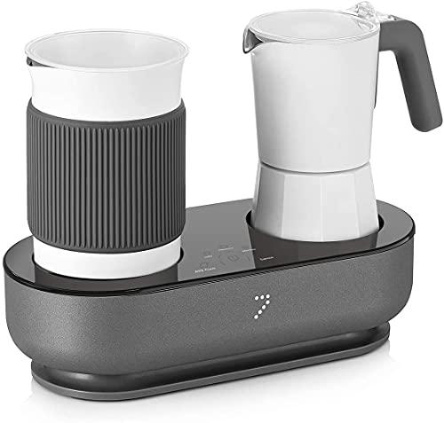 SEVEN&ME Espresso Machine with Milk Frother Coffee Maker Make Latte Cappuccino Macchiato in 3 Minutes Coffee Machine Electric Moka Pot Enjoy Barista-quality Espresso at Home