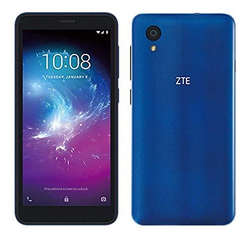 ZTE Blade A3 Lite 5.0' 18:9 Display, 8MP Camera Quad-Core Android 9.0 Go (LTE USA Latin Caribbean) 4G LTE GSM Unlocked Smartphone - International Version (Blue, 32GB)