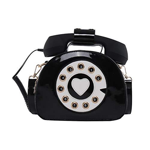 SUKUTU Telephone Shaped Purse Shoulder Handbags Womens Retro Phone Top-Handle Crossbody Totes for Girls