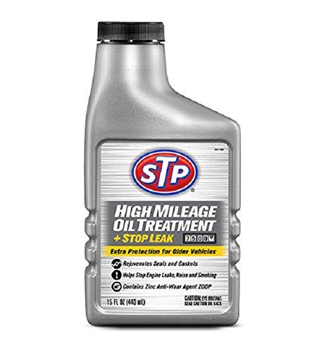 STP 15604B High Mileage Oil Treatment Stop Leak, 15 fl. oz, Fluid_Ounces