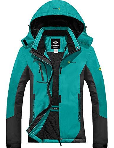 GEMYSE Women's Mountain Waterproof Ski Snow Jacket Winter Windproof Rain Jacket (Blue Grey,Medium)
