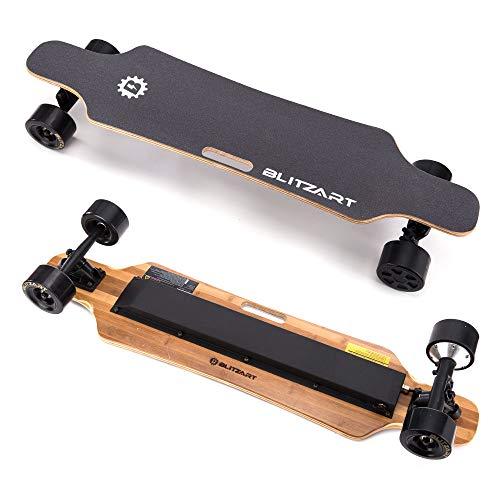 Blitzart 38' Hurricane Electric Longboard Electronic Skateboard 18mph 350W Brushless Motor