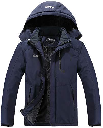 Men's Mountain Waterproof Ski Jacket Windproof Rain Windbreaker Winter Warm Hooded Snow Coat