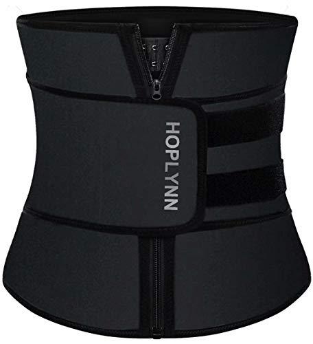 HOPLYNN Neoprene Sweat Waist Trainer Corset Trimmer Belt for Women Weight Loss, Waist Cincher Shaper Slimmer Black XXXX-Large