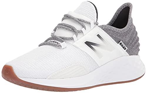 New Balance Women's Fresh Foam Roav V1 Running Shoe, Munsell White/Black, 8