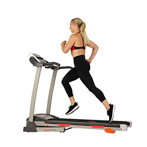 Sunny Health & Fitness Treadmill, Gray (SF-T4400) , 62 2 L x 26 8 W x 47 3 H