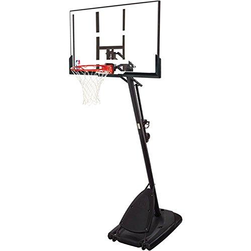 Spalding Pro Slam Portable NBA 54' Angled Pole Backboard Basketball System (Black, 54')