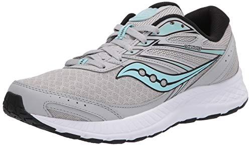 Saucony Women's Cohesion 13 Running Shoe, Grey/Black, 10