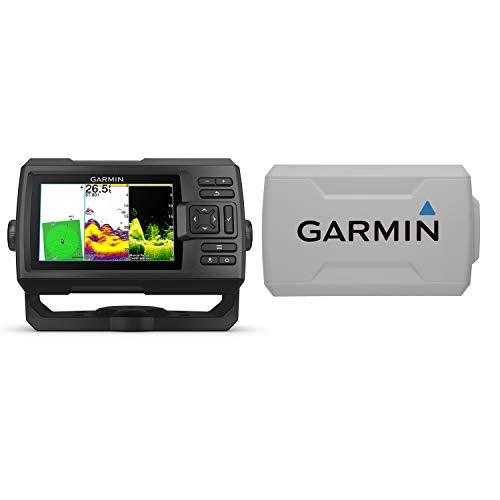 Garmin Striker Vivid 5cv Bundle with Transducer and Protective Cover, 5-inch Color Fishfinder, Vivid Scanning Sonar Color Palettes 010-02551-00