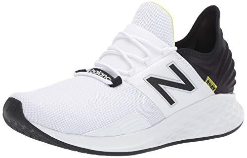 New Balance Men's Fresh Foam Roav V1 Sneaker, White/Black, 11 M US