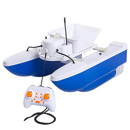 Lixada Wireless Remote Control Fishing Bait Boat Fish Finder 1.2kg Loading 500m Fishing Tool 3-5km/h Speed Transformation Smart RC Boat Smart Fishing Device