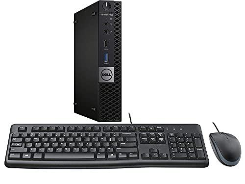 Dell Optiplex 7050 Micro Desktop, Intel i7, 16GB RAM, 256GB SSD, WiFi, Keyboard and Mouse, Windows 10 Pro (Renewed)