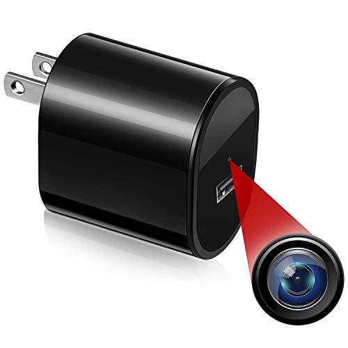 Hidden Spy Camera Mini Surveillance - Rovtop Security Cameras for Homes with Video HD 1080P, Motion Detection Portable USB Camera, Small Nanny Cam, No Audio