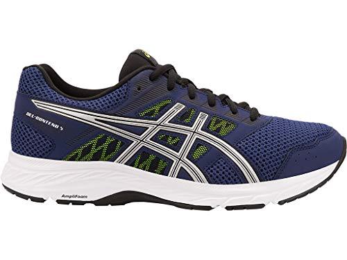 ASICS Men's Gel-Contend 5 Running Shoes, 13M, Indigo Blue/Silver