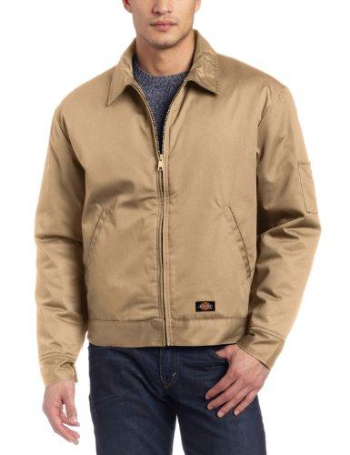 Dickies Men's Insulated Eisenhower Front-Zip Jacket,Khaki,X-Large/Regular,Khaki,X-Large/Regular