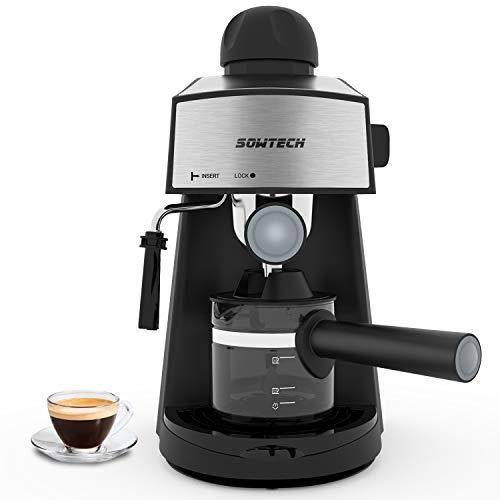 Espresso Machine 3.5 Bar 4 Cup Espresso Maker Cappuccino Machine with Steam Milk Frother and Carafe