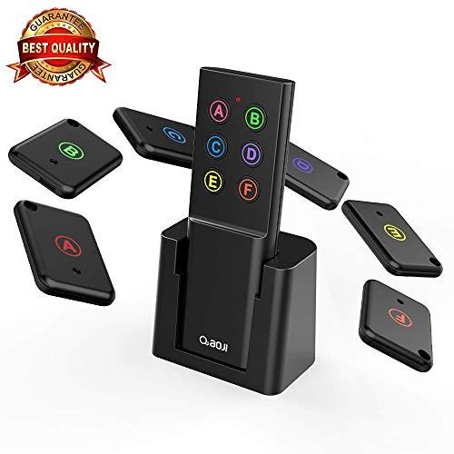Key Finder, AOJI Mini Item Tracker Wireless RF Locator, 80dB Sound Beep, 100ft Work Range, Red Indicator, 2 Extra Batteries