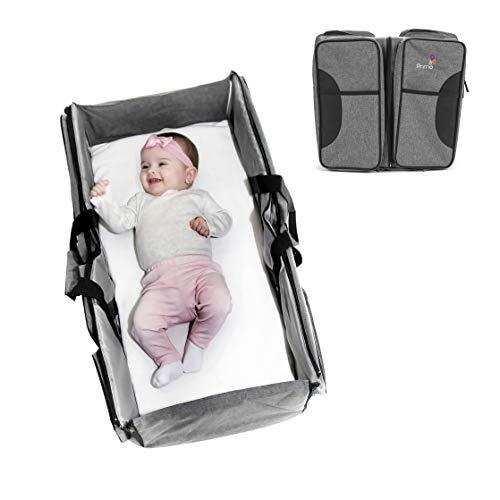 Primo Passi Nido 3 in 1 Premium Portable Diaper Bag Travel Bassinet and Change Station | Bassinet Bag (Grey)