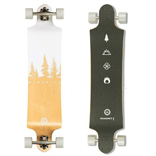 MINORITY Downhill Maple Longboard 40-inch Drop Deck (Nature)