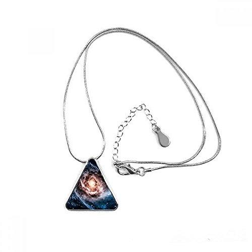 Blueairs Nebula Dust Star Nebula Cosmic Eye Illustration Pattern Triangle Shape Pendant Necklace Jewelry