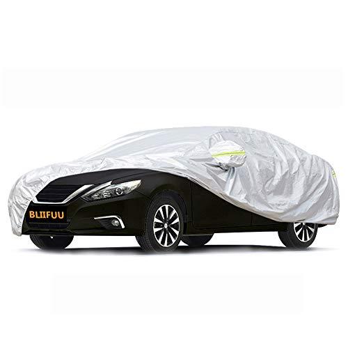 Bliifuu Sedan Car Cover Waterproof/Windproof/Snowproof/Sun UV Protection for Outdoor Indoor, Breathable Full Car Cover Fit Sedan 197' L x 70' W x 59' H