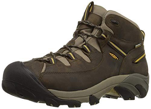 KEEN Men's Targhee II Mid Waterproof Hiking Boot,Black Olive/Yellow,9 M US