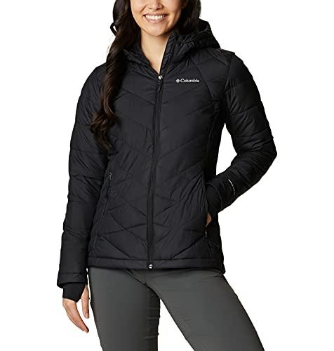 Columbia Women's Heavenly Hooded Jacket, Insulated, Black, Medium