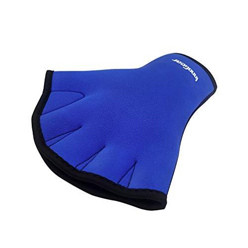 InnoGear Swim Gloves Aquatic Fitness Water Resistance Training Aqua Fit Webbed Gloves, Pack of 2 (Medium)