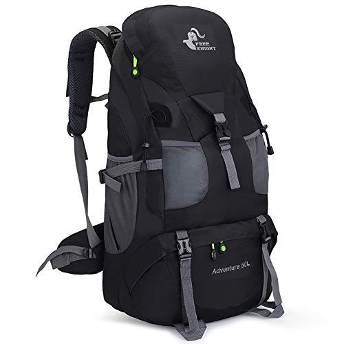 RuRu Monkey 50 Liter Hiking Backpack Daypack for Outdoor Camping Traveling,Black