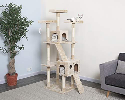 Go Pet Club 72' Tall Beige Cat Tree Furniture