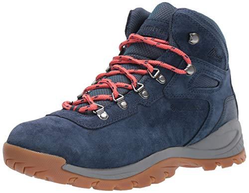 Columbia Women's Newton Ridge Plus Waterproof Amped Hiking Shoe, zinc, Coral, 8.5 Regular US